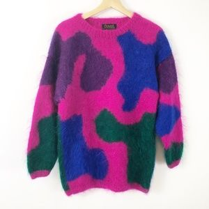 VTG 1980's Premier Collection Mohair Fuzzy Sweater